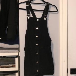 Zara Black Denim Overall